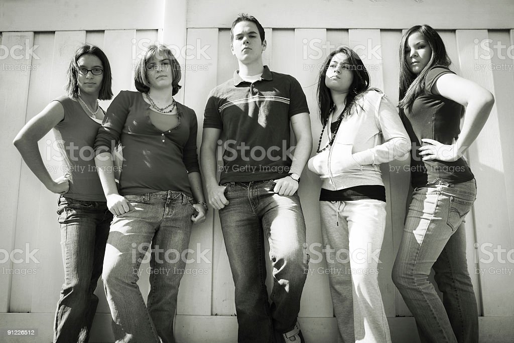 Youth culture (b/w) royalty-free stock photo