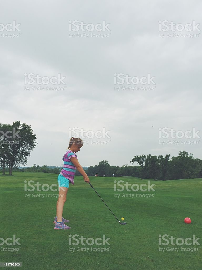 Youth Golfer stock photo