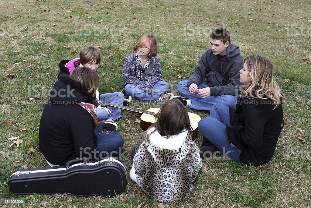 Youth Group stock photo