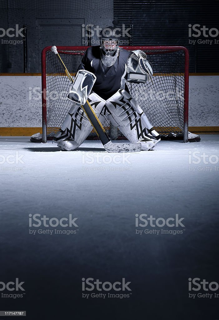 Youth Hockey Goalie royalty-free stock photo