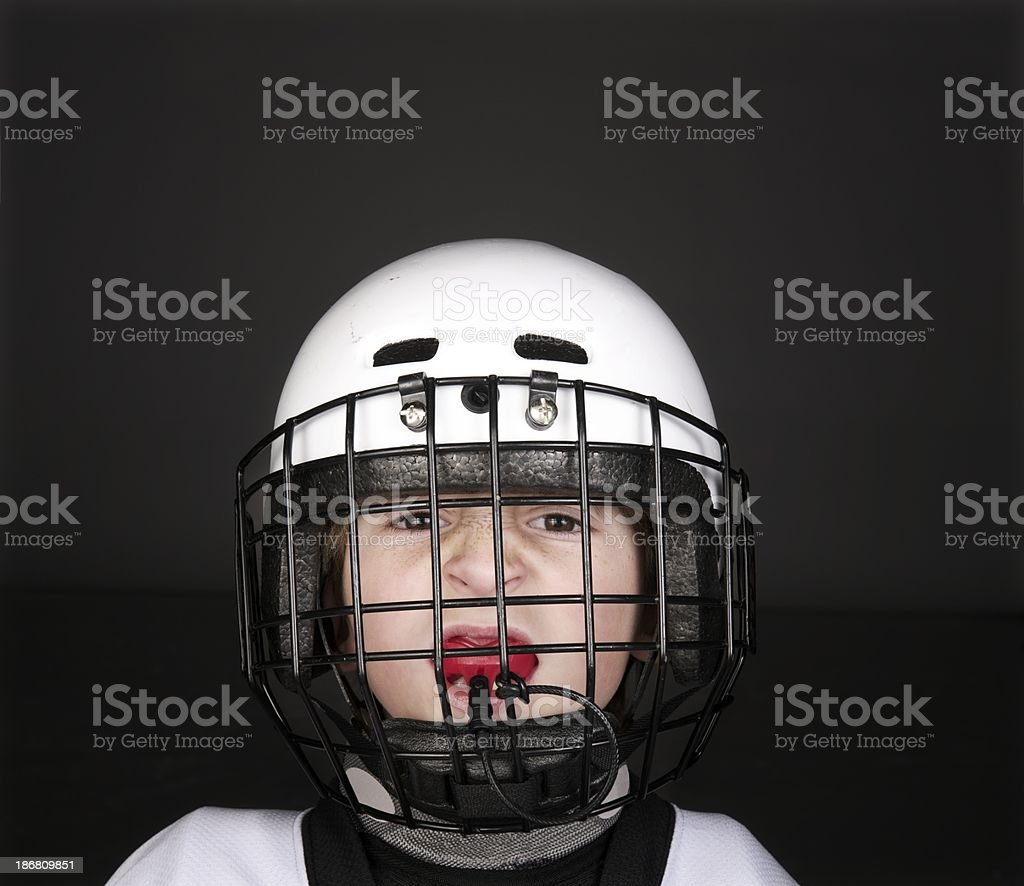 Youth Hockey Player stock photo