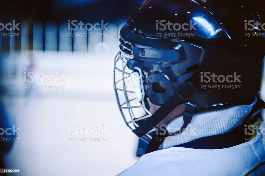 Youth Hockey Player stock photo