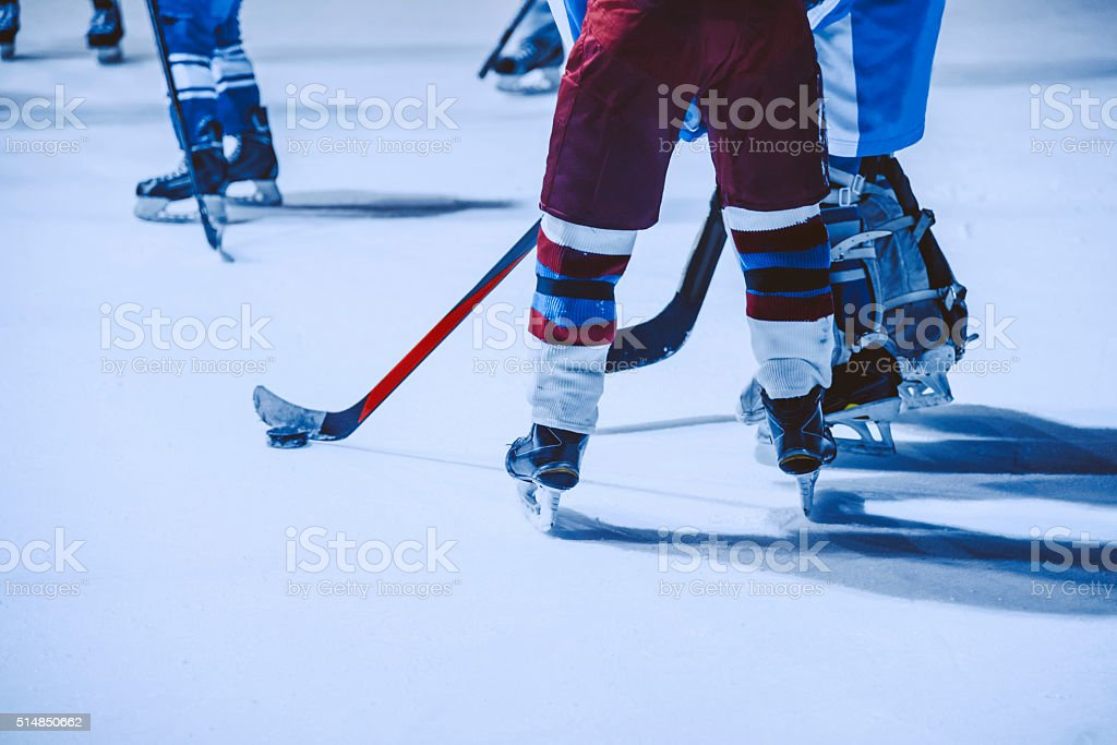 Youth Hockey Players stock photo