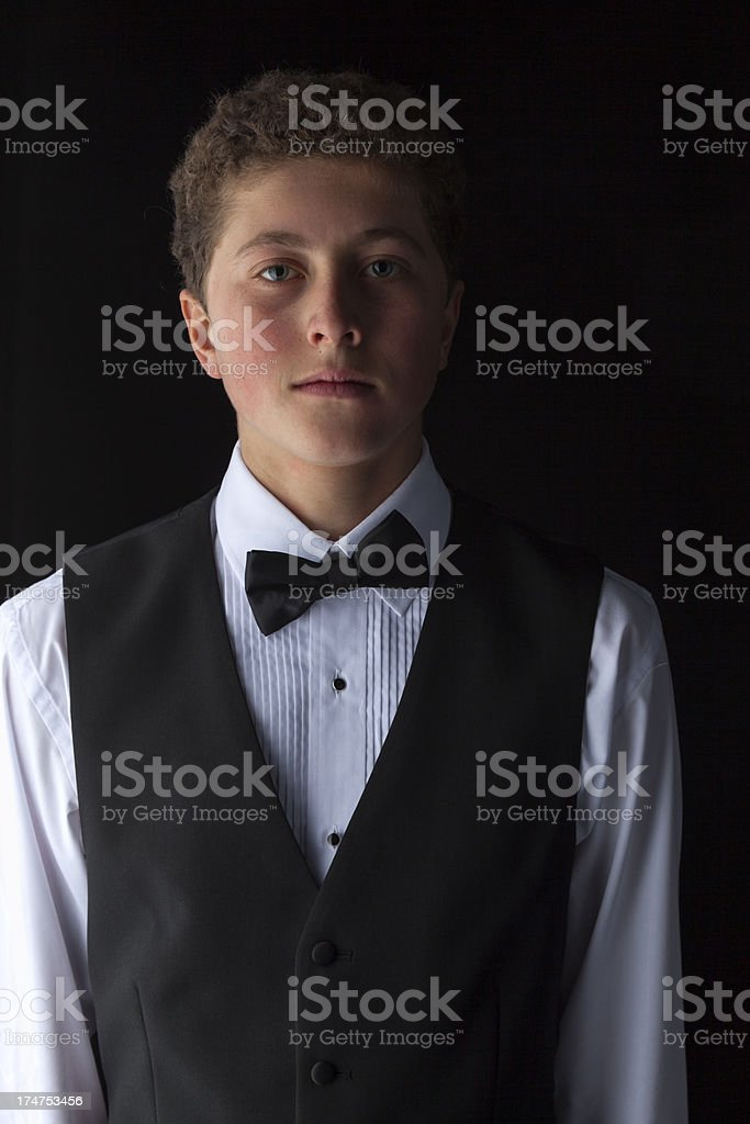 Youth In A Waistcoat royalty-free stock photo