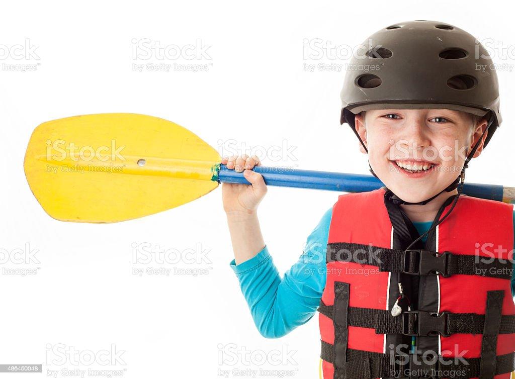 Youth kayaker stock photo