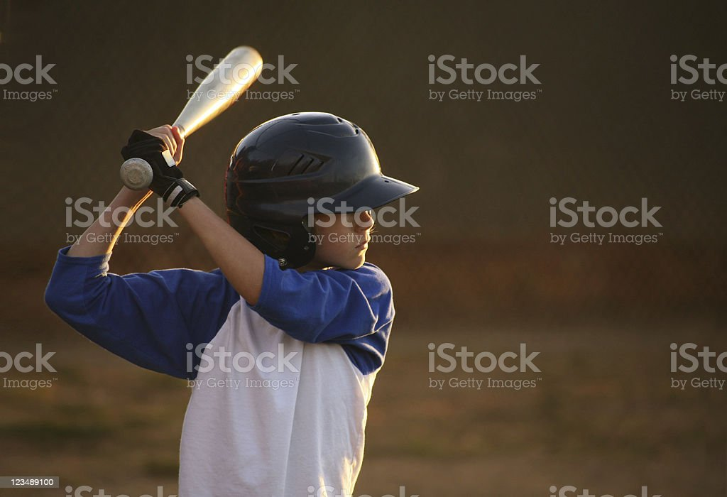 Youth League Baseball Hitter stock photo