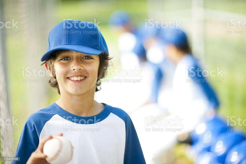 Youth League Boys Baseball Team stock photo