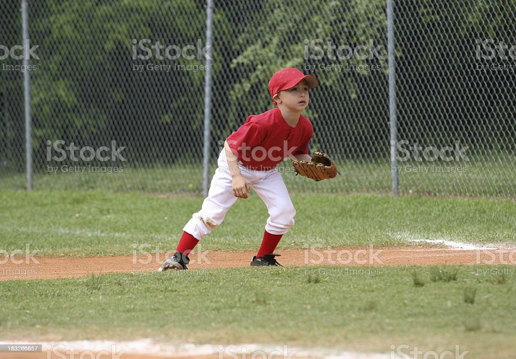 Youth League Fielder royalty-free stock photo