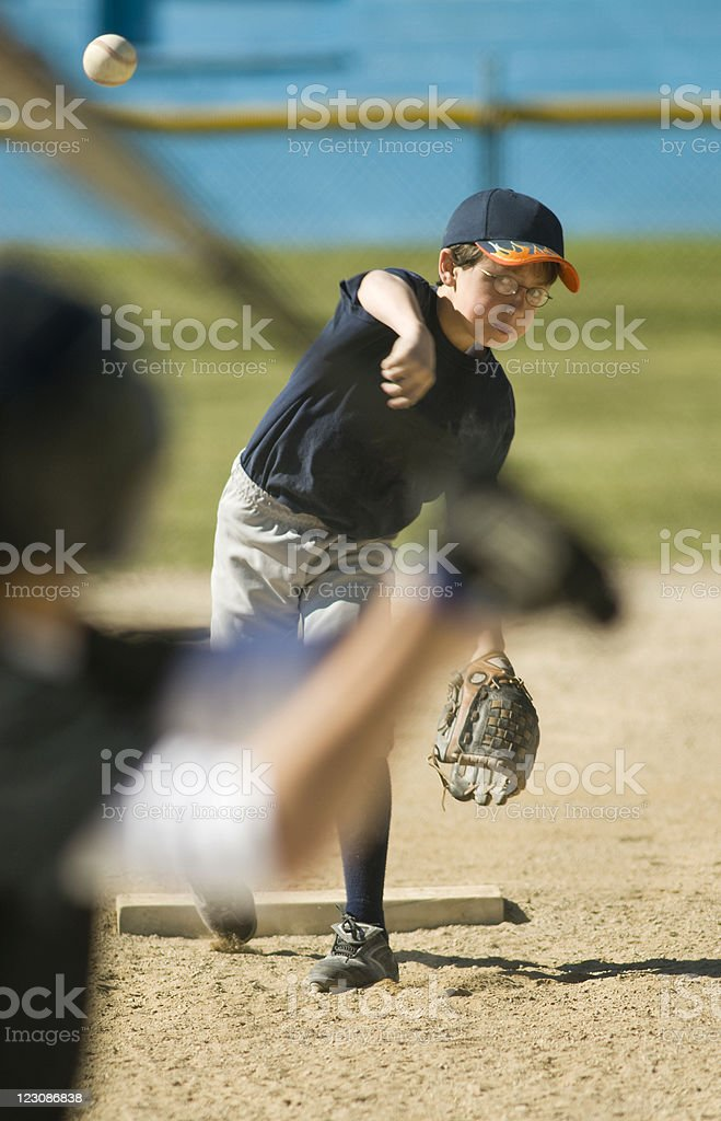 Youth League Pitch royalty-free stock photo