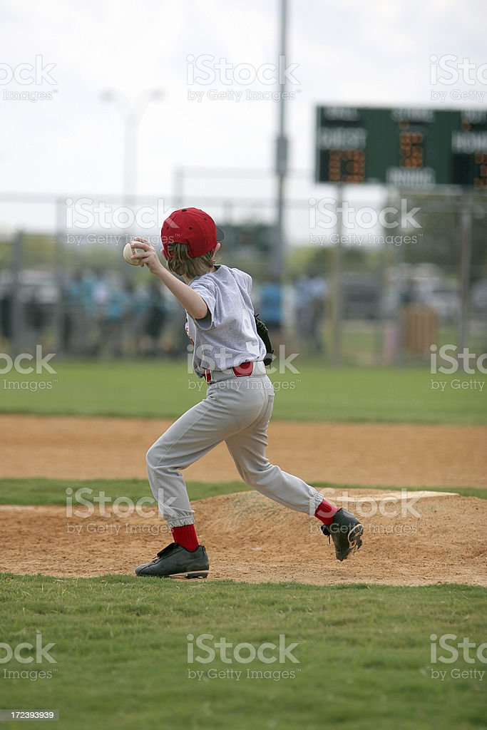 Youth League Pitcher royalty-free stock photo