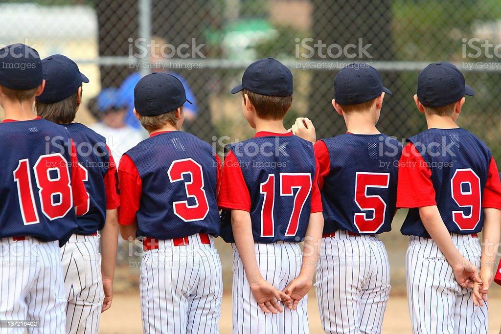 Youth League Teammates royalty-free stock photo