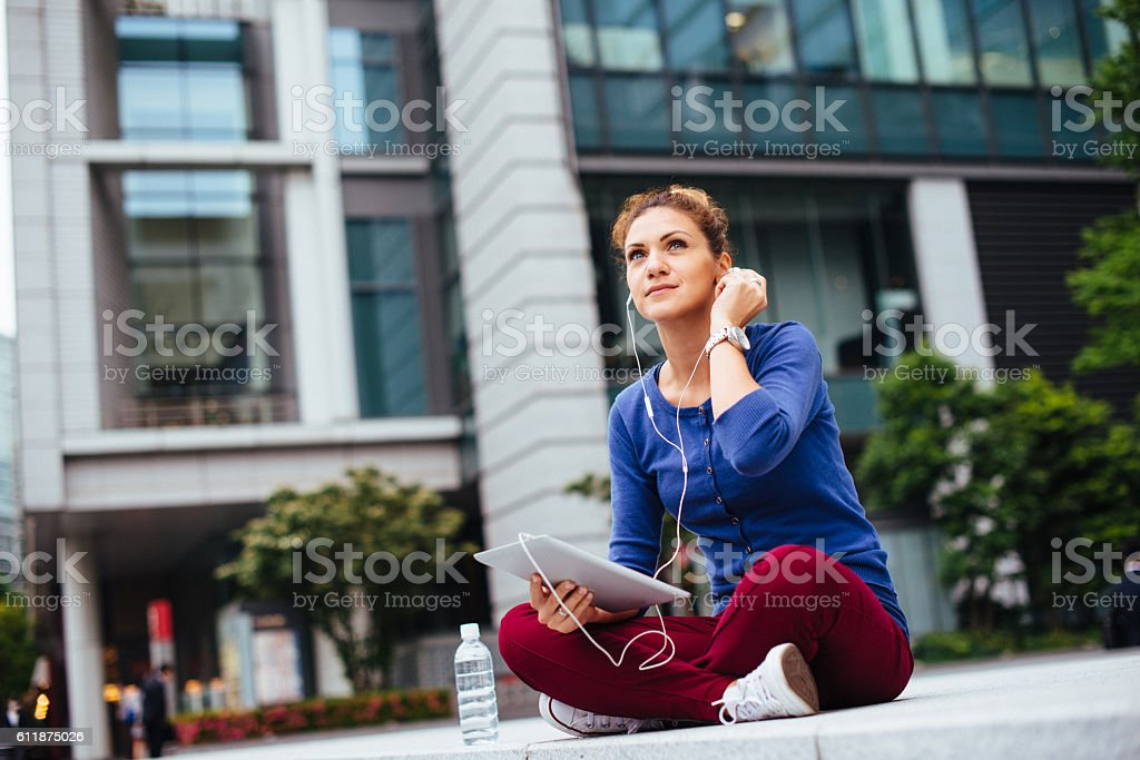 Youth lifestyle in big city stock photo