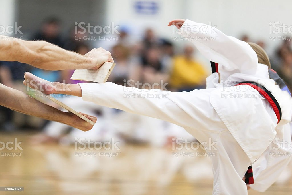 Youth Martial Arts Belt Testing stock photo