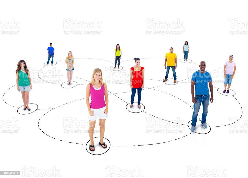 Youth Network. royalty-free stock photo