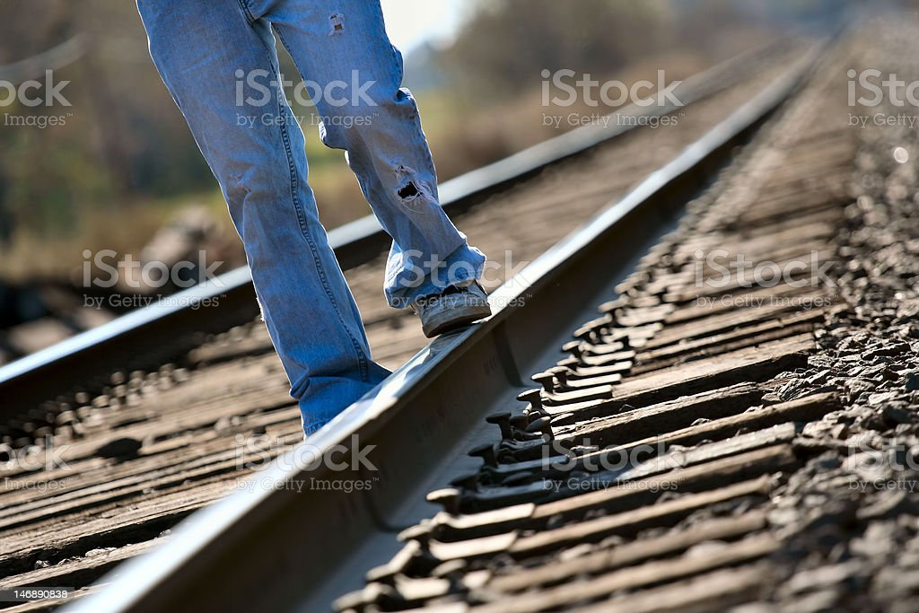 Youth on Tracks stock photo