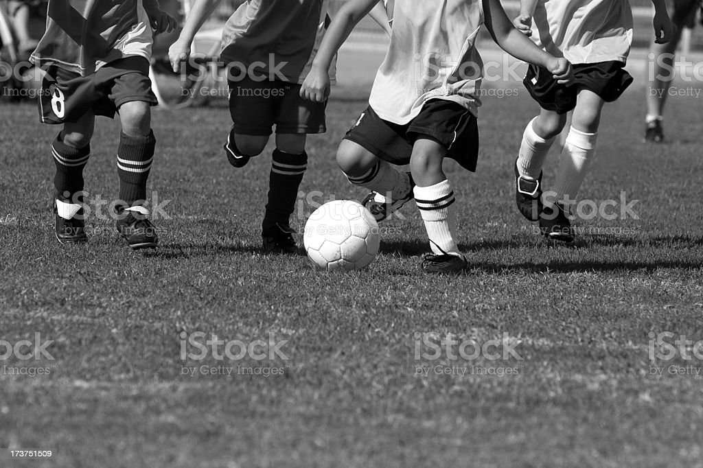 youth soccer game royalty-free stock photo
