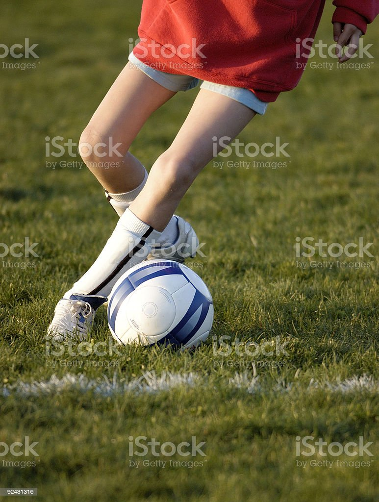 Youth soccer player royalty-free stock photo