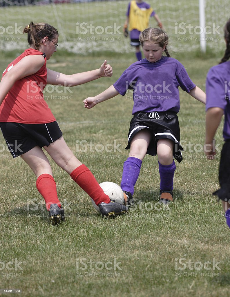 Youth Soccer Players in Action royalty-free stock photo