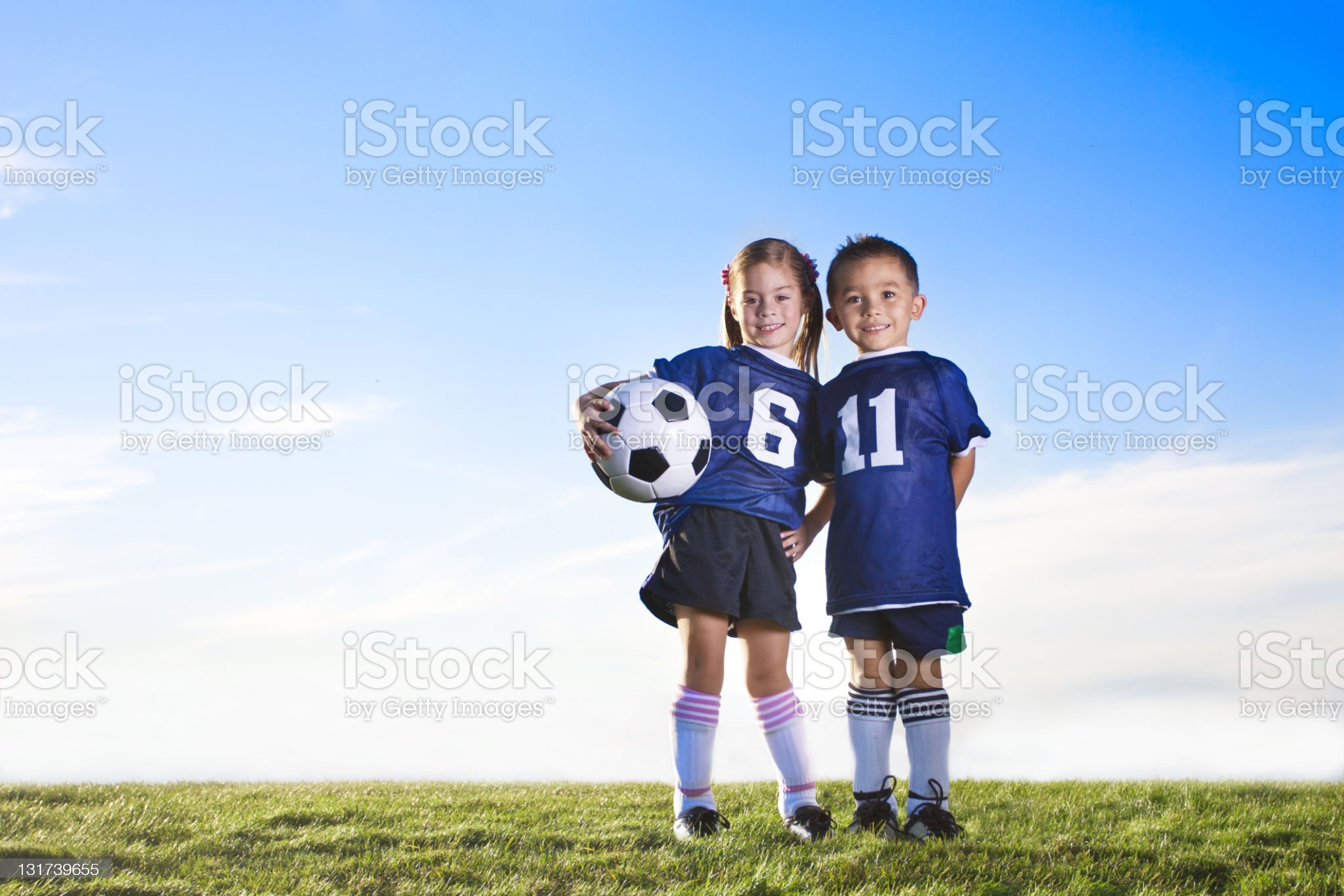 Youth Soccer Players royalty-free stock photo