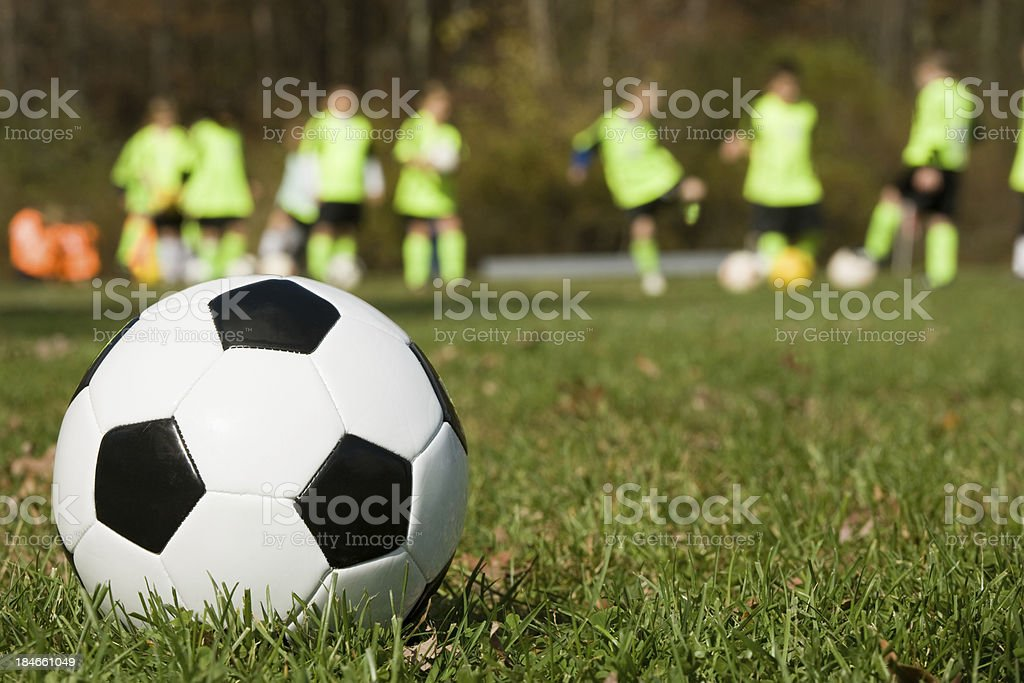 youth soccer training royalty-free stock photo