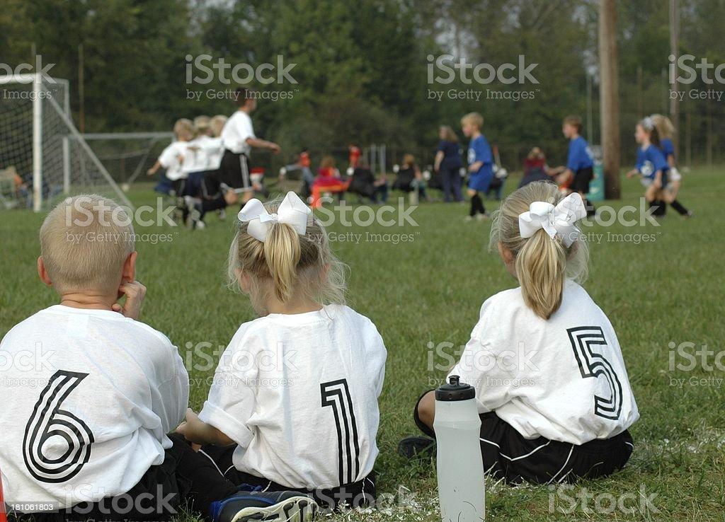 Youth Soccer - Waiting to Go In royalty-free stock photo
