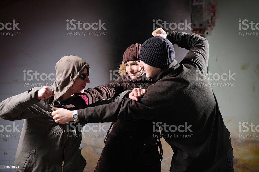 Youth violence royalty-free stock photo