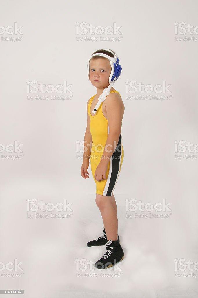 youth wrestler stock photo