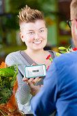 Youthful Flower Shop  Customer using Electronic Coupon