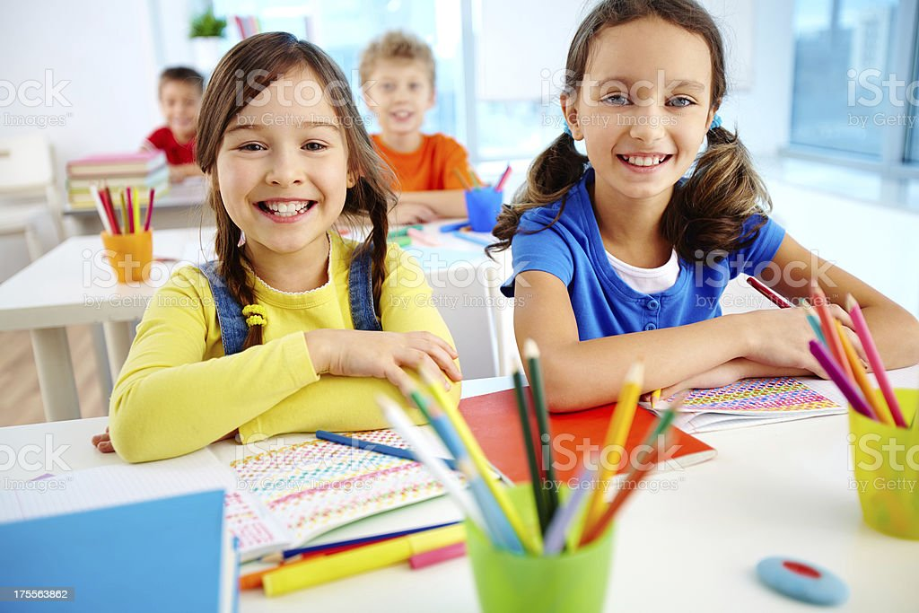 Youthful learners royalty-free stock photo