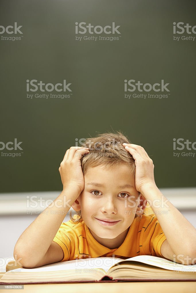 Youthful reader royalty-free stock photo