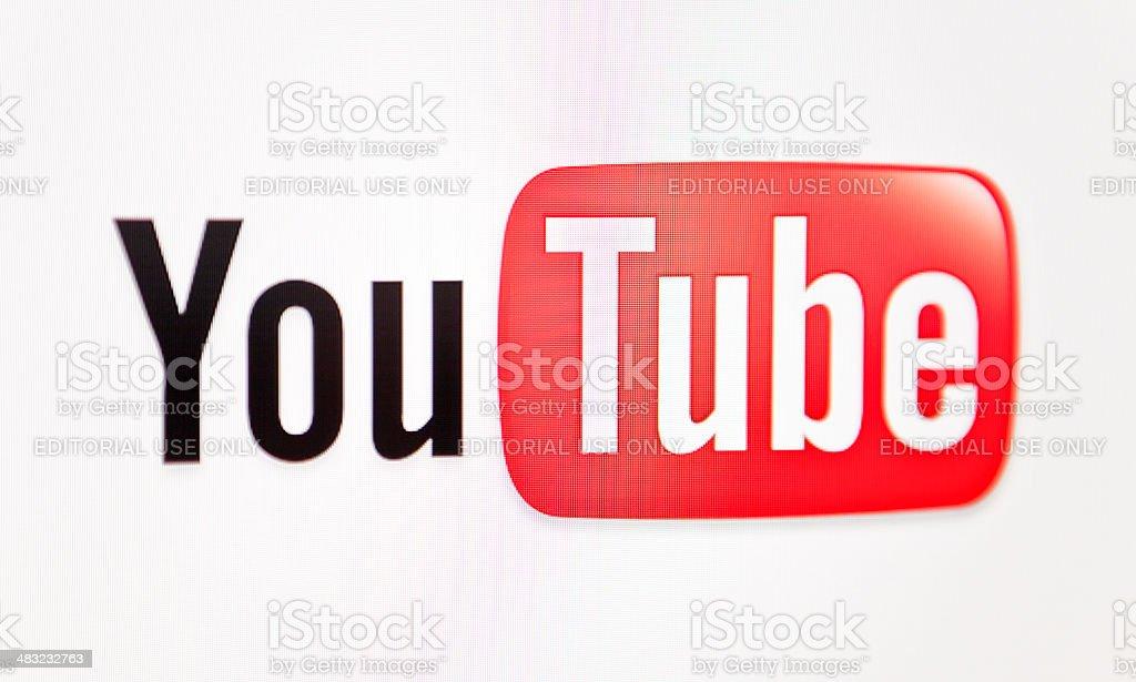 Youtube logo stock photo
