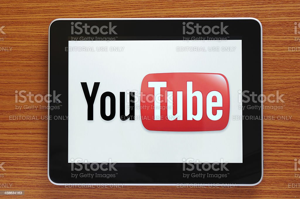 Youtube on iPad stock photo