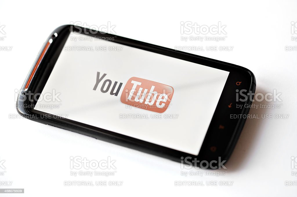 Youtube phone royalty-free stock photo
