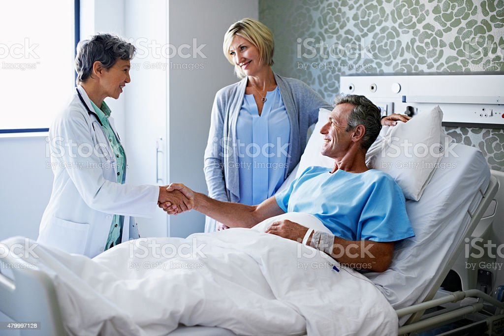 You've been a great patient! stock photo