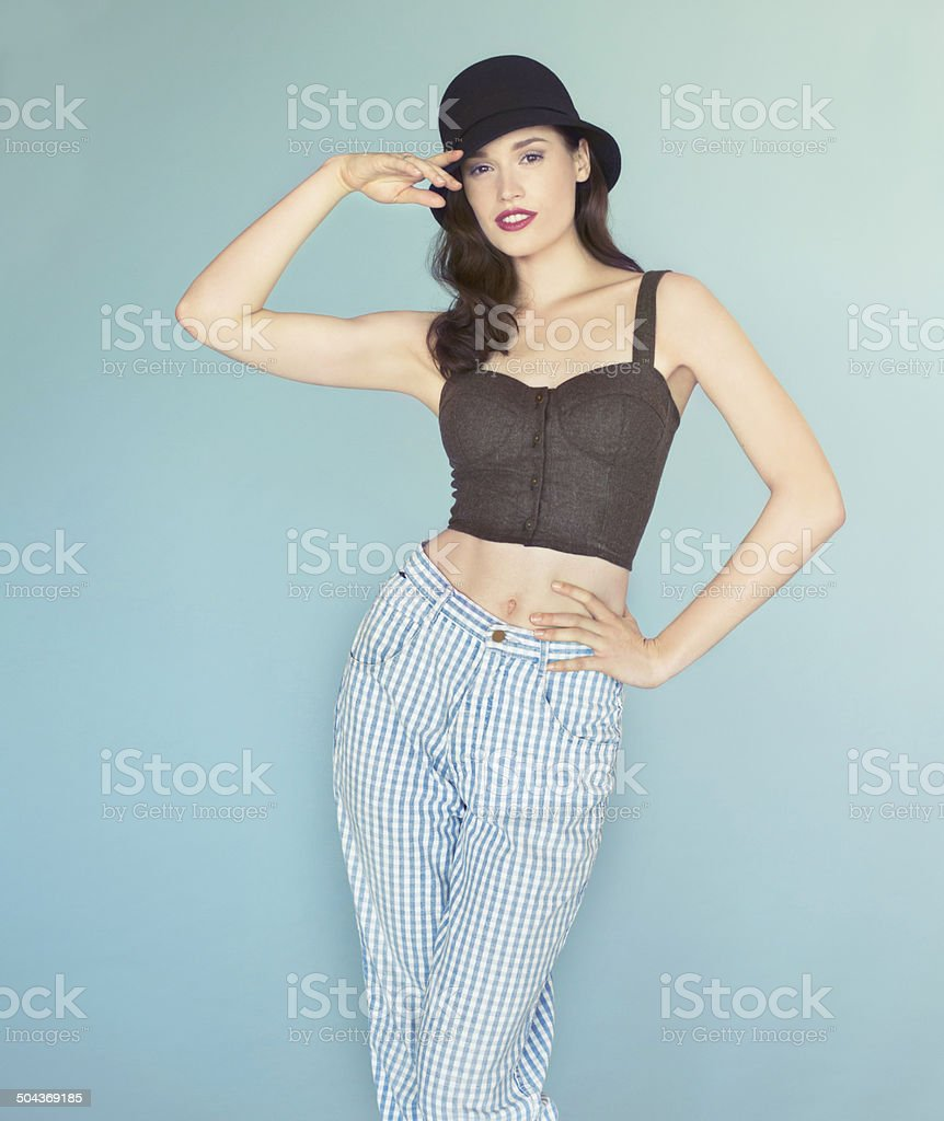 You've caught her eye... stock photo