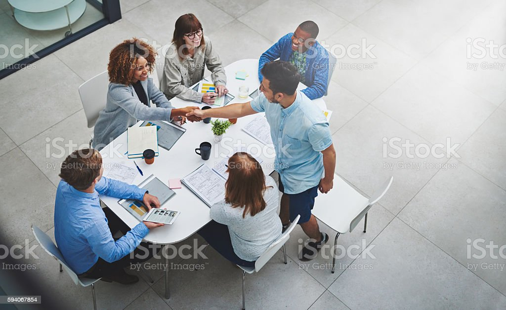 You've earned this promotion stock photo