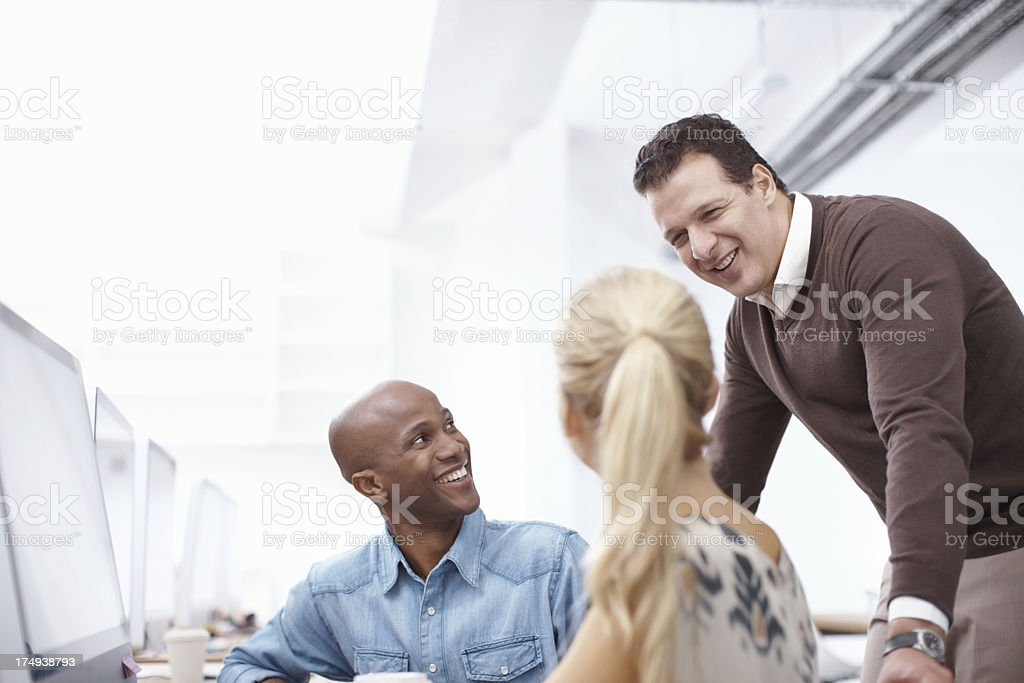You've fitted in so well at the company royalty-free stock photo