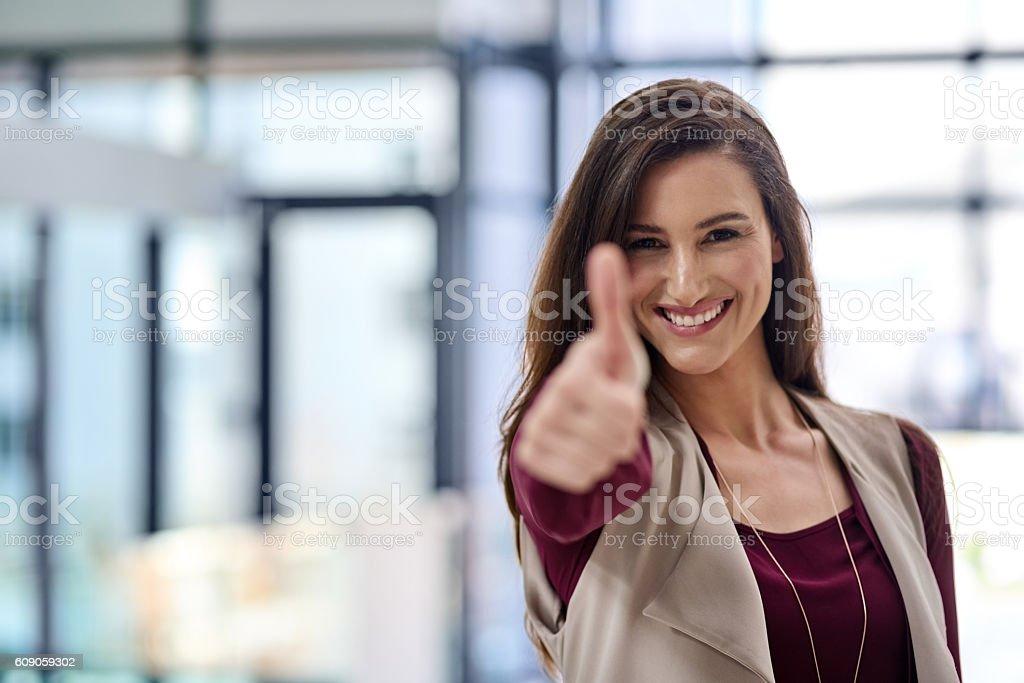 You've got my approval! stock photo