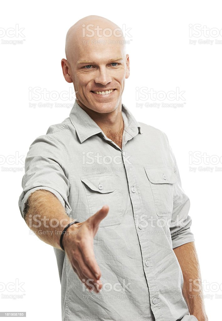 You've got yourself a deal royalty-free stock photo