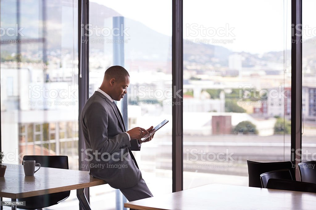 You've gotta keep abreast of current events stock photo