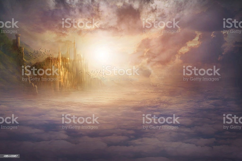 You've made it to Heaven stock photo