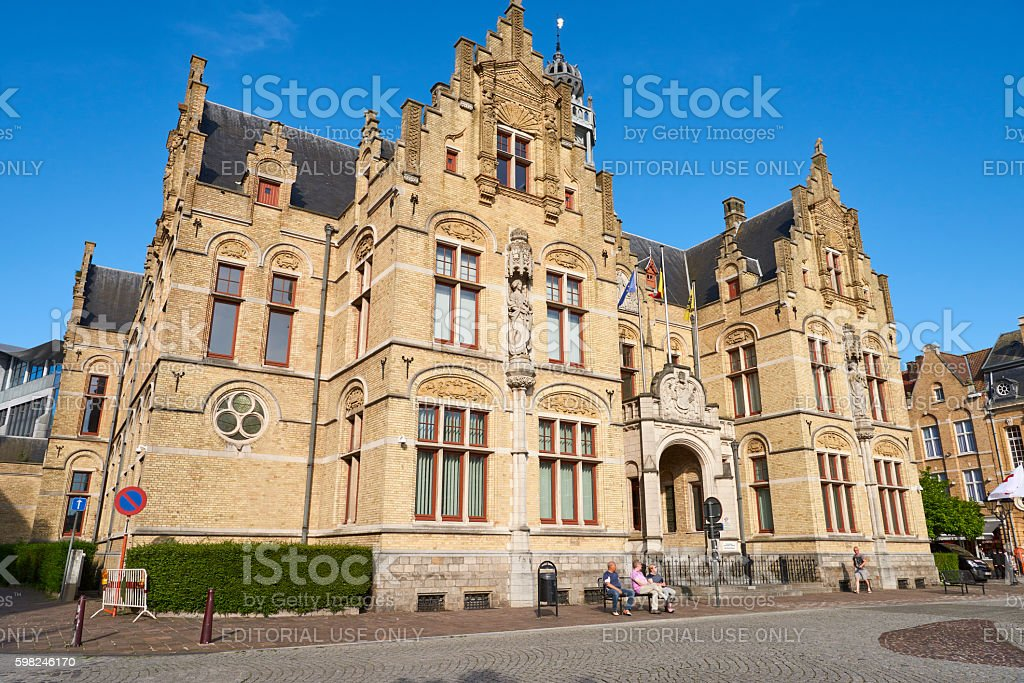 Ypres Court House stock photo
