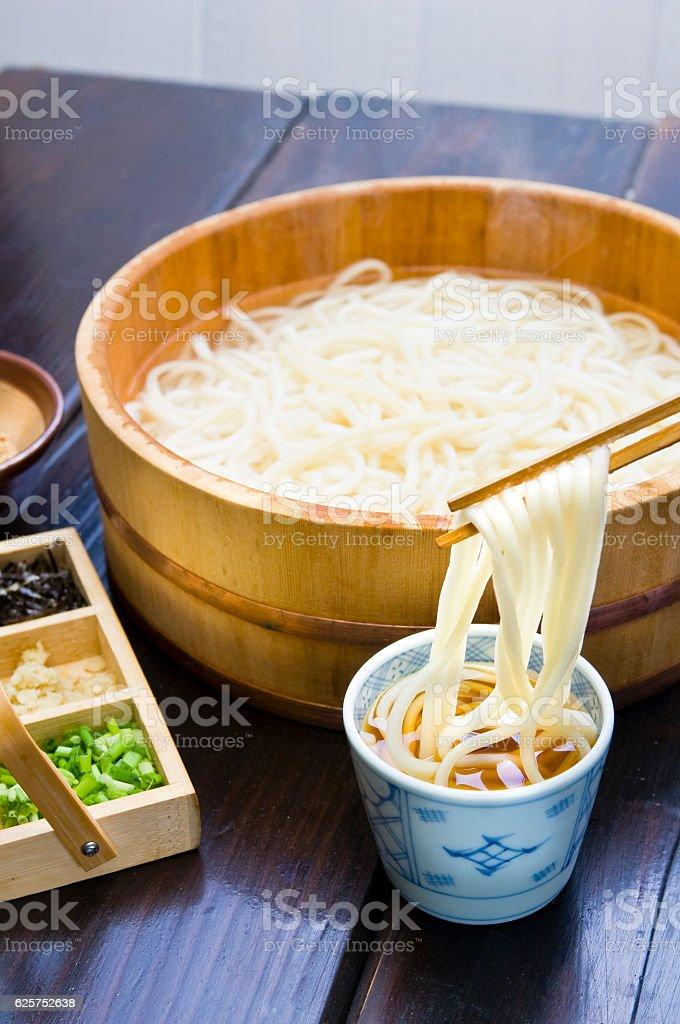 Yu noodomi Sanuki / Kagawa / Local cuisine stock photo