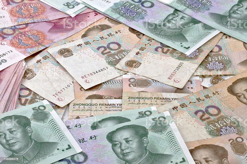 Yuan notes royalty-free stock photo