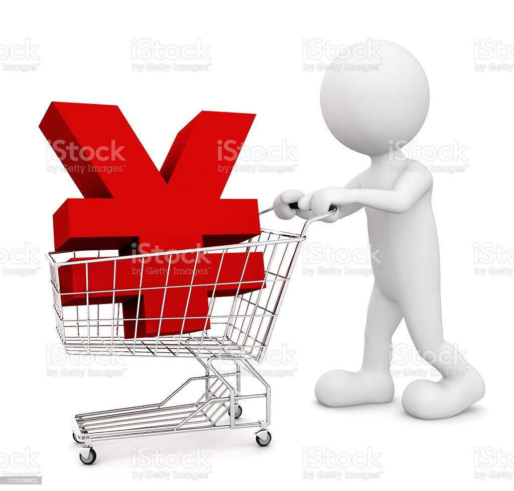 Yuan Shopping royalty-free stock photo
