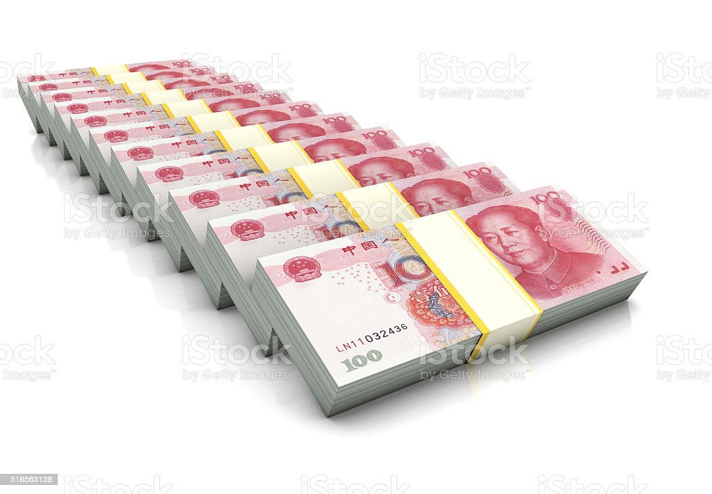 Yuans Stack stock photo