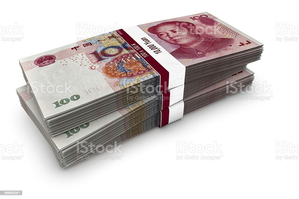 Yuan Stack royalty-free stock photo