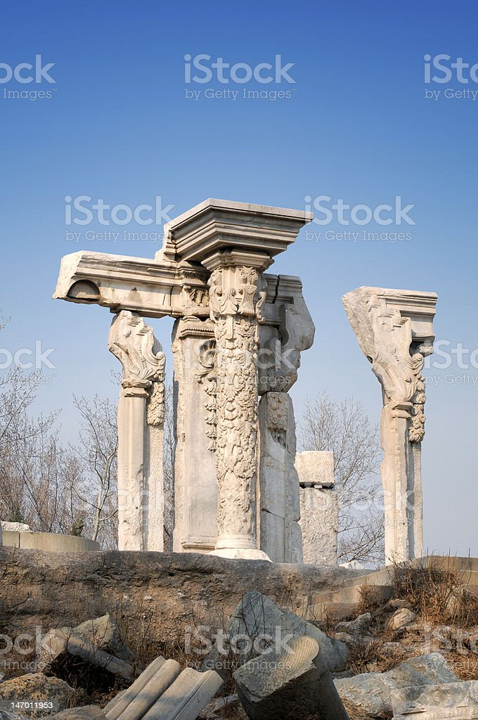 Yuanmingyuan, Most Famous Relics in China stock photo