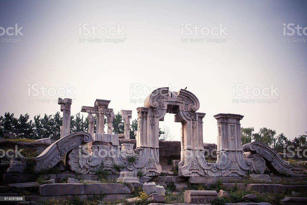 Yuanmingyuan Park in Beijing, China stock photo