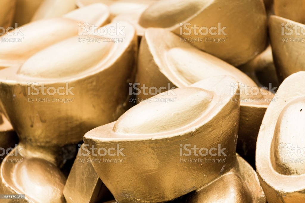 Yuanpao gold replica. stock photo